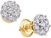 0.10CTW ROUND DIAMOND LADIES CLUSTER EARINGS