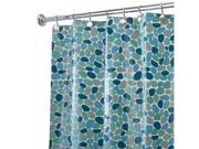 Interdesign River Rockz Eva Shower Curtain - Blue