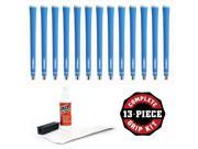 Lamkin R.E.L Ace 3G Standard Neon Blue - 13 pc Grip Kit (with tape, solvent, vise clamp) 9SIA0CR6EB9701