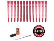 Avon Chamois Jumbo Red - 13 piece Golf Grip Kit (with tape, solvent, vise clamp)
