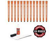 Avon Chamois Jumbo Orange - 13 piece Golf Grip Kit (with tape, solvent, vise clamp)