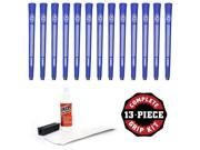 Avon Chamois Jumbo Blue - 13 piece Golf Grip Kit (with tape, solvent, vise clamp)