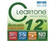 "Cleartone 7412 EMP Phosphor Bronze Acoustic Guitar Strings (.012-.053"") Light"