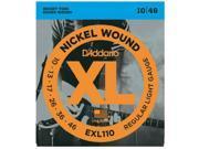 D'Addario EXL110 Nickel Wound Electric Guitar Strings, Regular Light, .010-.046