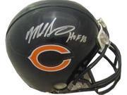 Mike Singletary signed Chicago Bears Replica Mini Helmet HOF 98- JSA Hologram