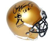 Paul Hornung signed Heisman Gold Schutt Authentic Mini Helmet 56 H 9SIA0CY01T8900