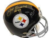 Joe Greene signed Pittsburgh Steelers Full Size Replica TB Helmet HOF 87- PSA Hologram 9SIA0CY0UC8191