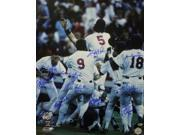 Kent Hrbek signed Minnesota Twins 16x20 Photo 1987 World Series Champs w/ 10 Signatures
