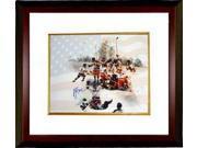 Athlon CTBL-MW14222 Mike Eruzione Signed 1980 Team USA Olympic Hockey Photo Custom Framed Team with Flag Miracle on Ice - 16 x 20 9SIA0CY1BG1554
