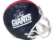 Lawrence Taylor signed New York Giants TB Full Size Replica Helmet dual HOF 99 & SB XXI XXV Champs 9SIA0CY1KD3125