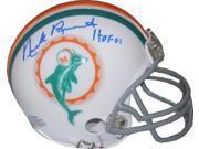 Nick Buoniconti signed Miami Dolphins TB Replica Mini Helmet HOF 01 (blue sig) 9SIA0CY1R77276