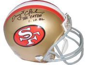 "Dwight Clark signed San Francisco 49ers Replica TB Mini Helmet """"The Catch"""" 1.10.82"" 9SIA0CY23W7706"