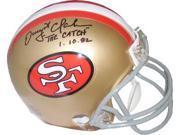 "Dwight Clark signed San Francisco 49ers Replica TB Mini Helmet """"The Catch"""" 1.10.82"" 9SIA0CY23W7706"