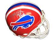 Jim Kelly signed Buffalo Bills TB Replica Mini Helmet HOF 02 (silver sig)- Steiner Hologram 9SIA0CY2E64266