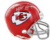 Len Dawson signed Kansas City Chiefs Replica Mini Helmet HOF 87- Steiner Hologram 9SIA0CY2E64251