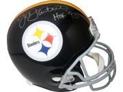 Jack Lambert signed Pittsburgh Steelers TB Replica Mini Helmet Gray Mask HOF 90 (silver sig)- Lambert Hologram 9SIA0CY2TF3043