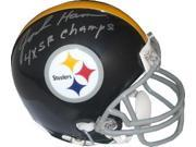 Athlon CTBL-016256 Jack Ham Signed Pittsburgh Steelers TB Replica Mini Helmet Gray Mask 4X SB Champs Silver Sign 9SIA00Y5NA0946