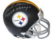 Jack Ham signed Pittsburgh Steelers TB Replica Mini Helmet Gray Mask 4X SB Champs (silver sig) 9SIA0CY2TF3071
