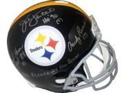 Jack Lambert signed Pittsburgh Steelers Linebacker Greats Full Size TB Replica Helmet Gray Mask HOF 90 3 sig w/insc 9SIA0CY2TF2984