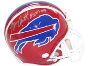 Bruce Smith signed Buffalo Bills Full Size TB Red Replica Helmet HOF 09- Steiner Hologram 9SIA0CY37K8230