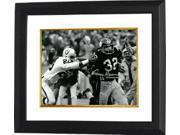 Franco Harris signed Pittsburgh Steelers 16x20 B&W Photo Custom Framed (Immaculate Reception)