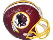 Russ Grimm signed Washington Redskins Riddell Full Size Replica Helmet dual #68 HOGS & HOF 2010