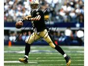 Drew Brees signed New Orleans Saints 8X10 Photo (black jersey passing) 9SIA0CY3UW4404