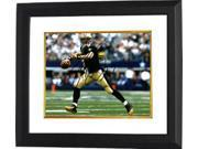 Drew Brees signed New Orleans Saints 8X10 Photo Custom Framed (black jersey passing) 9SIA0CY3V62036