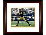 Drew Brees signed New Orleans Saints 8X10 Photo Custom Framed (black jersey passing) 9SIA0CY3V62039