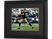 Drew Brees signed New Orleans Saints 8X10 Photo Custom Framed (black jersey passing) 9SIA0CY3V62046