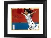 Christen Press signed 8x10 Photo Custom Framed First Goal Team USA 2015 World Cup (horizontal-side view)(Women's Soccer Team) 9SIA0CY3YV9762