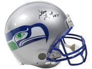 Steve Largent signed Seattle Seahawks Full Size Proline TB Helmet HOF 95- Steiner Hologram 9SIA0CY41P1626