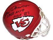 Len Dawson signed Kansas City Chiefs TB Mini Helmet dual SB IV MVP & HOF 87- JSA Hologram 9SIA0CY49M7014