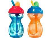 Munchkin Click Lock 2 Count Flip Straw Cup, 9 oz Orange & Blue 9SIA0ET2HV2556