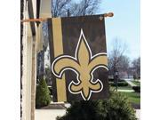"""Party Animal New Orleans Saints Bold Logo Banner - United States - 36"""" x 24"""" - Lightweight, Dye Sublimated - Polyester"""