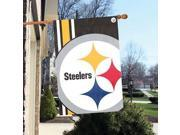 """Party Animal Pittsburgh Steelers Bold Logo Banner - United States - 36"""" x 24"""" - Lightweight, Dye Sublimated - Polyester"""