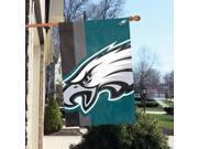 "Party Animal Philadelphia Eagles Bold Logo Banner - United States - 36"" x 24"" - Lightweight, Dye Sublimated - Polyester"