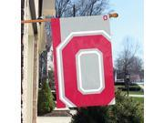 "Party Animal Ohio State Buckeyes Bold Logo Banner - United States - Ohio - 36"" x 24"" - Lightweight, Dye Sublimated - Polyester"