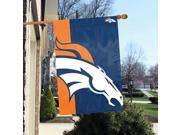 "Party Animal Denver Broncos Bold Logo Banner - United States - Denver - 36"" x 24"" - Lightweight, Dye Sublimated - Polyester"