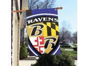 """Party Animal Baltimore Ravens Bold Logo Banner - United States - 36"""" x 24"""" - Lightweight, Dye Sublimated - Polyester"""