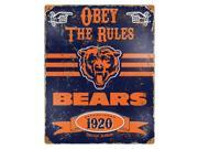 Party Animal Bears Vintage Metal Sign 1 Each Obey The Rules Print Message 11.5 Width x 14.5 Height Rectangular Shape Heavy Duty Embossed Lettering