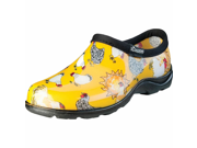 Sloggers Chicken Print Womens Yellow Waterproof Shoe Size 8