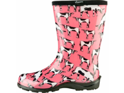 Sloggers Cowbella Womens Pink Garden Boots Size 8