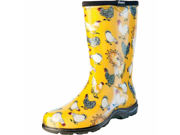 Sloggers Womens Chicken Print Rain And Garden Boot Yellow Size 8