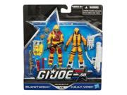 Blowtorch vs H.E.A.T. Viper Heated Battle GI Joe 50th Anniversary Action Figures 9SIAD2459Y0966
