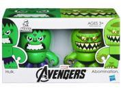 MARVEL THE AVENGERS MINI MUGGS HULK and ABOMINATION Figures 9SIA0KW0CP6682