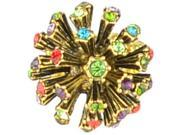 [Queenwoods] Gorgeous Party Accessories Flower Crystal Ring : colorful hydrangea