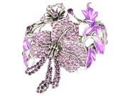 [Queenwoods] Gorgeous Party Accessories Crystal Bracelet : hibiscus