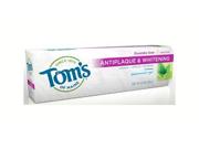 Toothpaste-Anti-Plaque/Spearmint - Tom's Of Maine - 4.7 oz - Paste