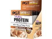 PGX SatisFast Whey Protein Chocolate - Natural Factors - 12 Packets - Box